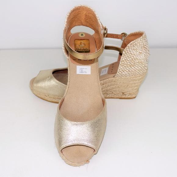 b54ca85776d Kanna Shoes - Kanna Evita Wedge Espadrille Sandals Leather
